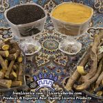 licorice herbs powder root granules herbs